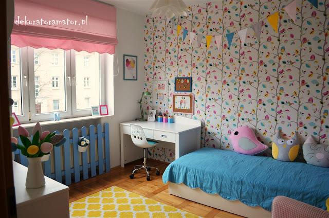 pokój dziewczynki, pokój dziewczęcy, pokój ucznia, pokój dziecięcy, kolorowy pokój dziecka, colourfull kidsroom