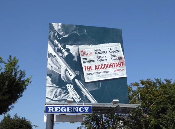 Accountant movie billboard