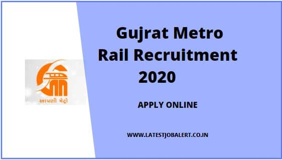 Gujrat Metro Rail Recruitment 2020 for Joint/ Sr. Deputy General Manager post online form