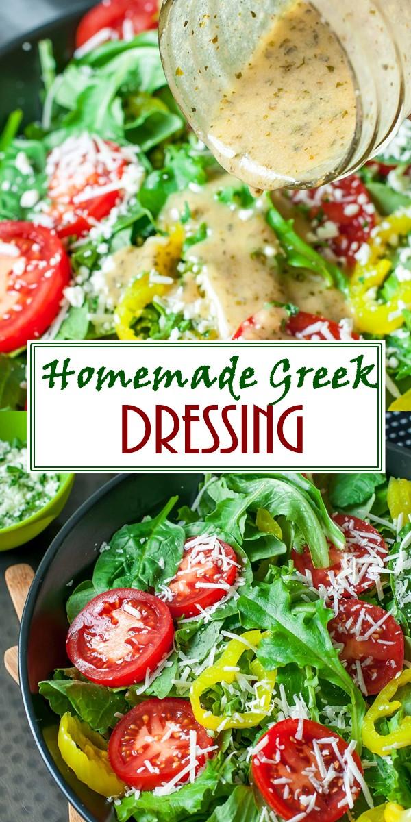 Easy Homemade Greek Dressing #appetizerrecipes