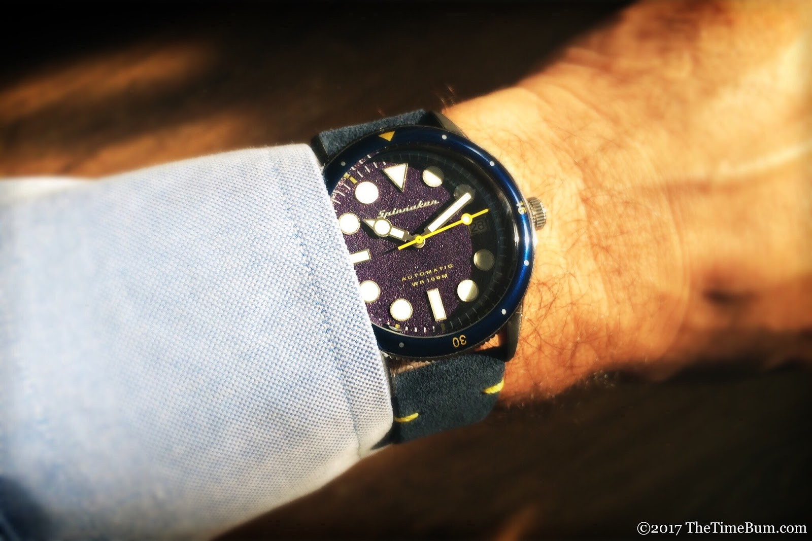 Spinnaker Cahill 38mm blue wrist shot