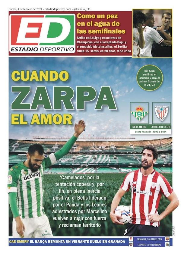 """Betis, Estadio Deportivo: """"Cuando zarpa el amor"""""""