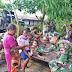 Satgas Pamtas RI-PNG Yonif Mekanis Raider 413 Kostrad Pos Pitewi menggelar pengobatan gratis di Kampung Pitewi