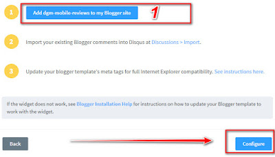 Using Disqus For Comments Box Add-In Blogger