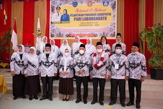 Bupati Andi Hadiri Pelantikan Pengurus PGRI Kabupaten Labuhanbatu Periode 2020-2025