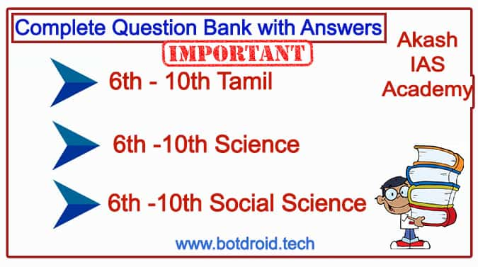 New 6th To 10th Book Back Question with Answers by Akash IAS
