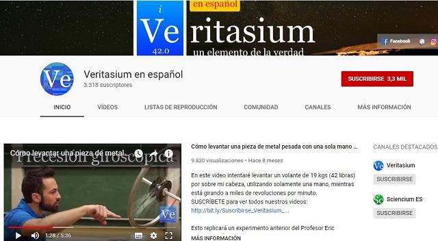 canal Veritasium de vídeos en español
