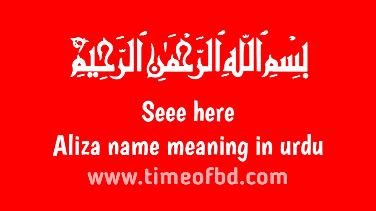 Aliza name meaning in urdu, الیزا نام کا مطلب اردو میں ہے