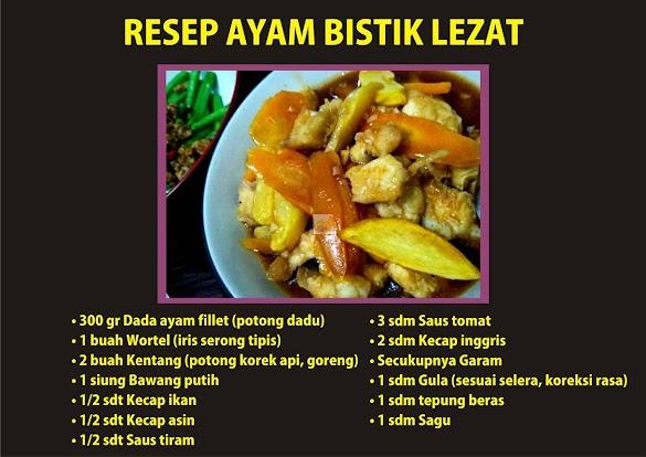 Resep Ayam Bistik Lezat dan Cara Membuatnya