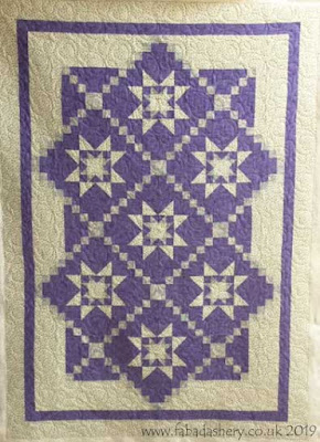 Purple Star quilt made by Val, quilted by Frances Meredith