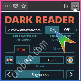 Croben.com Dark Mode Websites Option 1