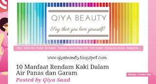 Tukar Header Blog, Design Header Blog Qiya Saad, Qiya Beauty,