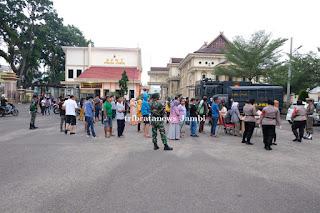 Langgar Protokol Kesehatan, Puluhan Warga Terjaring Razia Operasi Yustisi Gabungan di Jambi