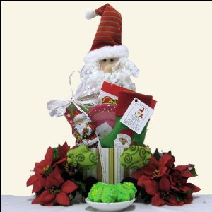 Santa!: Children's Holiday Christmas Gift Basket