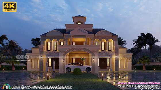 Colonial style 5 bedroom luxury house rendering