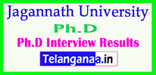 Jagannath University Ph.D 2018 Interview Results