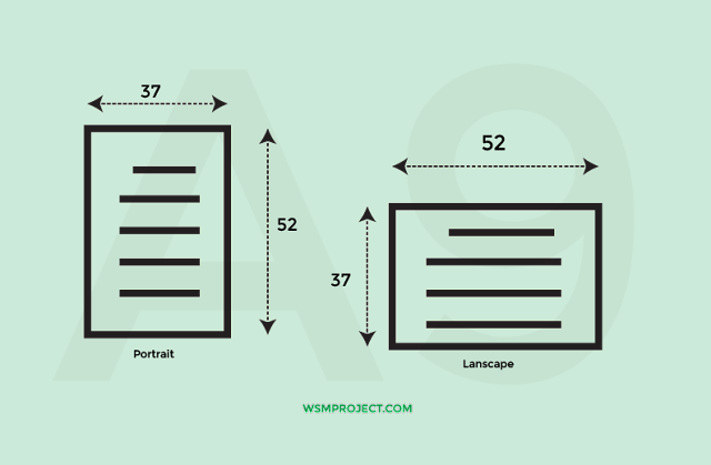Ukuran Kertas A9 Dalam CM, MM, Inci dan Pixel