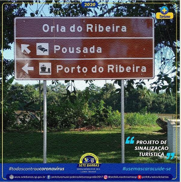 Prefeitura de Sete Barras  inicia instalação de placas de sinalização turística