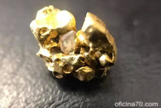 pepita de ouro encontrado pelo nosso leitor