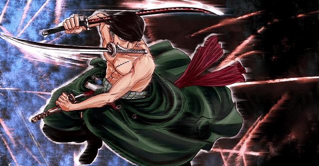 zoro menganut aliran tiga pedang atau santoryu
