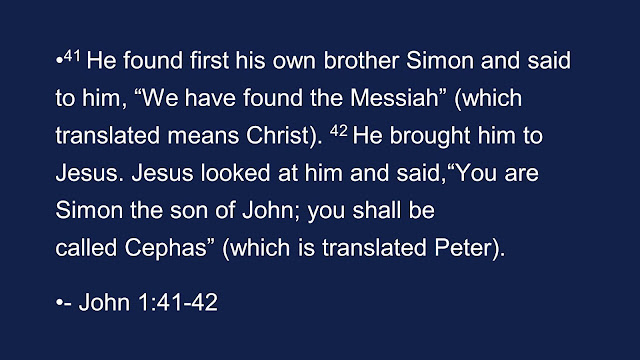 "The first thing Andrew did was to find his brother Simon and tell him, ""We have found the Messiah!"""