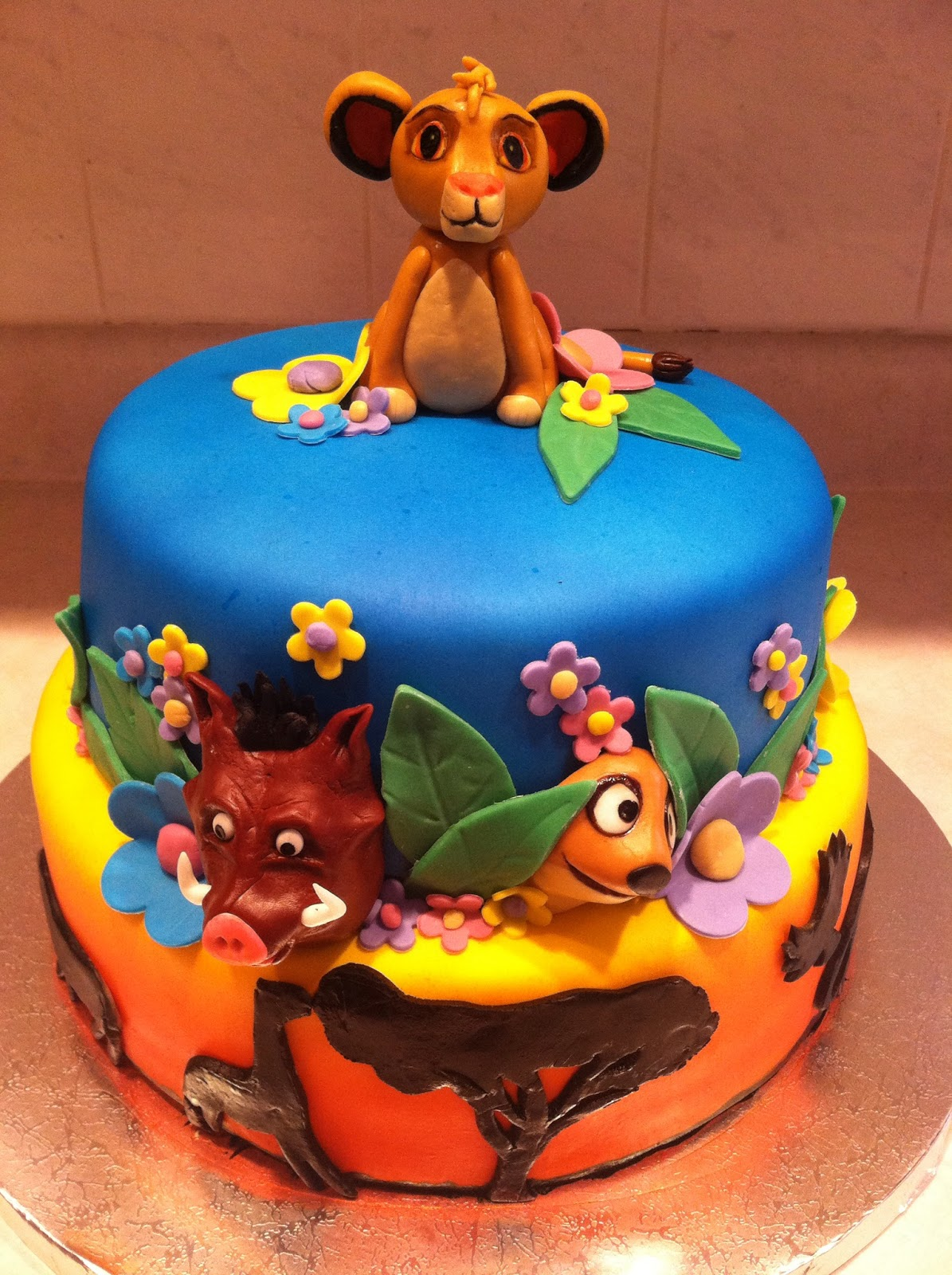 Marshmallow Masterpieces Lion King Cake