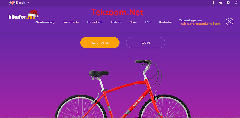 [SCAM] Review BikeForMe - Lãi 3% hằng ngày cho 50 ngày - Đầu tư tối thiểu 0.0125 BTC hoặc 10$ - Thanh toán tức thì
