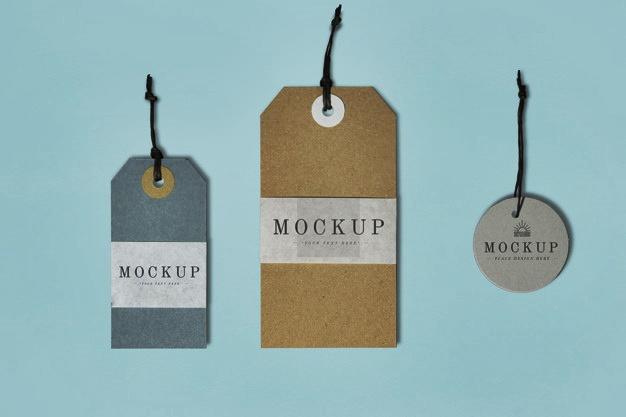 Contoh File Mockup Hang Tag Karton Ekslusif Siap Edit