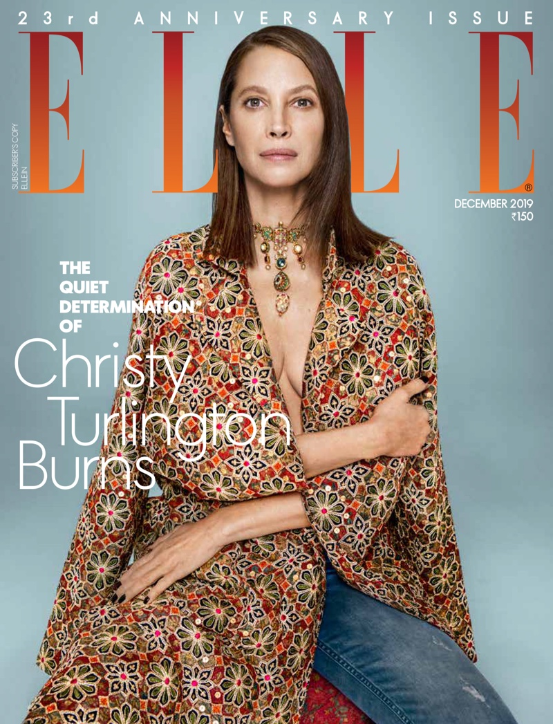 Christy Turlington makes a glam statement for Elle India