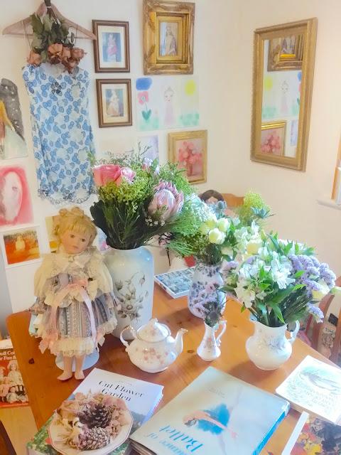 flower doll vintage home
