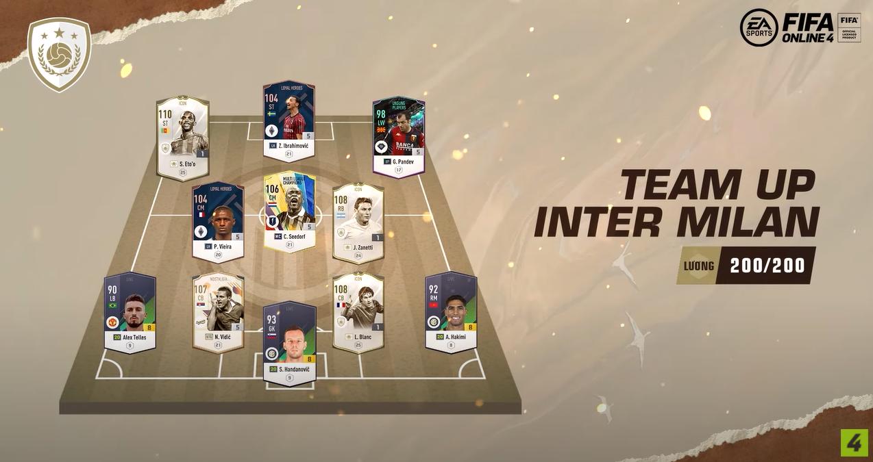 FIFA ONLINE 4   Review Samuel Eto'o icons - Team UP Inter Milan phòng ngự phản công nhanh