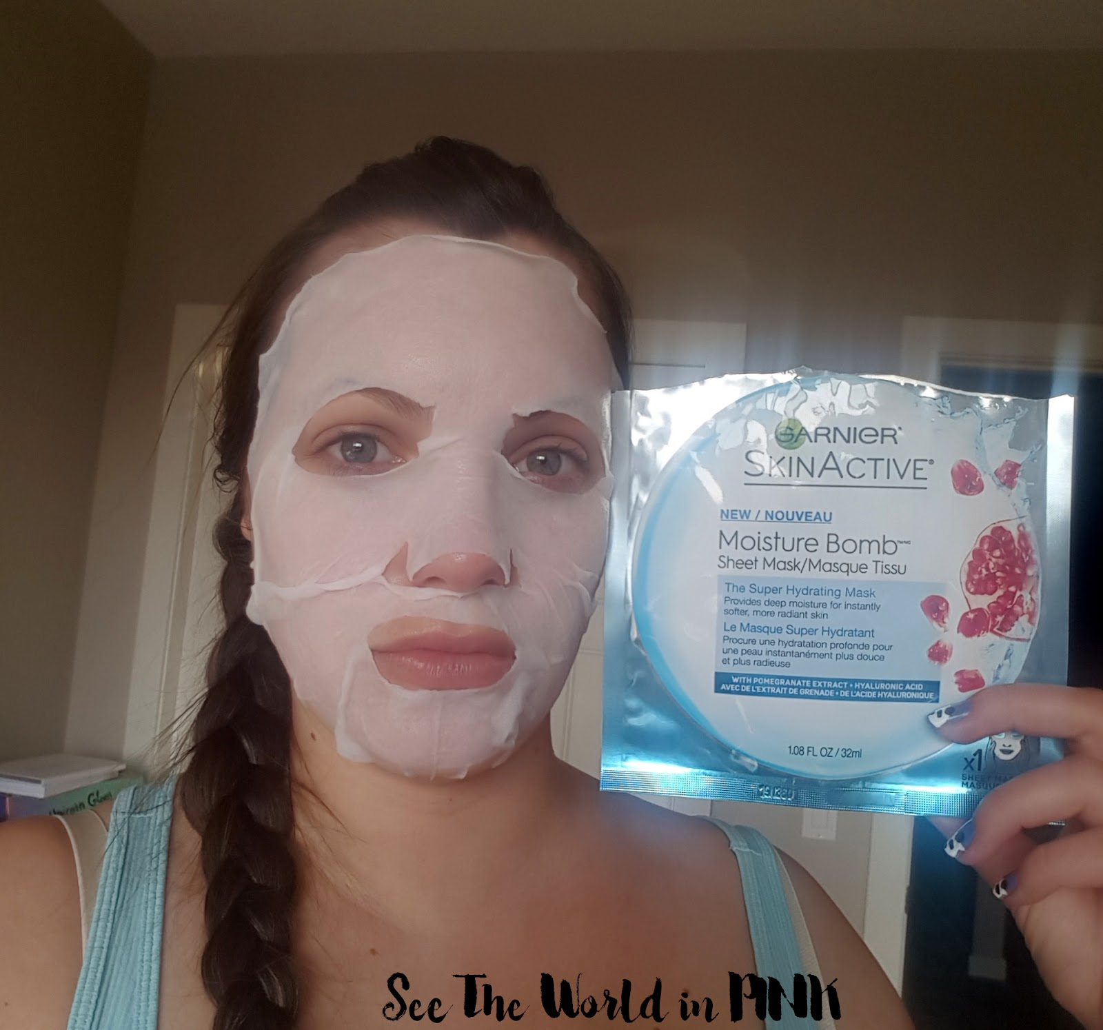 Mask Wednesday - Garnier Moisture Bomb Sheet Mask Review