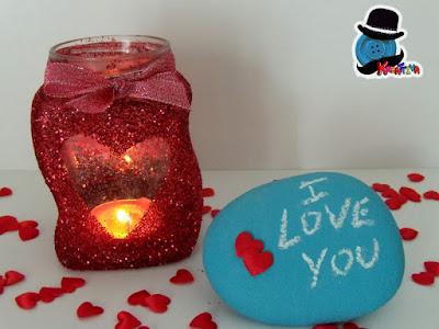 porta candela barattolo di vetro