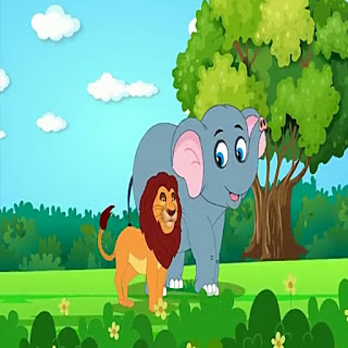 Hindi kids story   |  शेर और हाथी |  sher aur hathi
