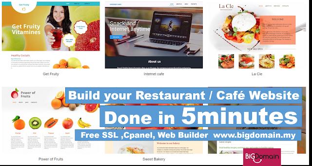 Bigdomain.my Free Website Builder - 200+ Designs