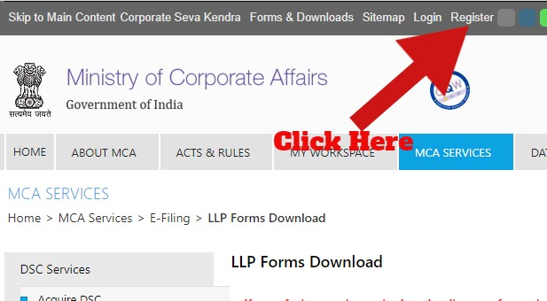 LLP Form Page