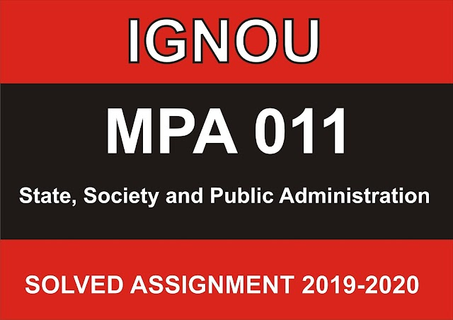 MPA 011 Solved Assignment