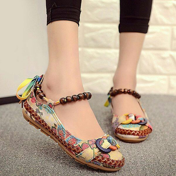 Teenage floral print shoes