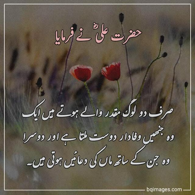 hazrat ali quotes in urdu for friends