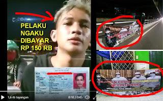 FPl Tangkap Provokator Pemasang Spanduk yang Menyerang Anies-HRS, Ngaku Dibayar Rp 150 Ribu