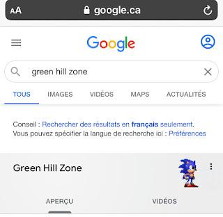 Google Easter Egg Sonic-Green Hill Zone