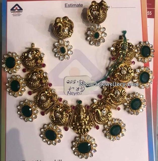 93 Grams Floral Parrot Necklace