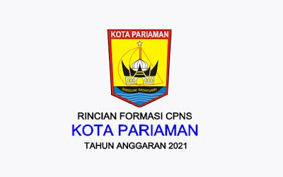 Formasi CPNS Kota Pariaman Tahun 2021