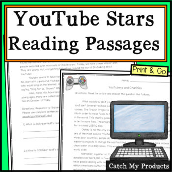 Middle School ELA Stations about YouTube Stars #iteachtoo