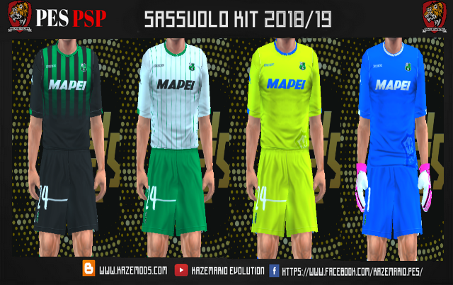 Sassuolo 18/19 Kits Foot Psp (Ppsspp)