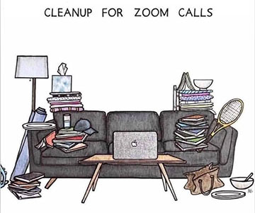 Cleanup up our burrows for the next zoom meeting (Source: Facebook post by David N.)