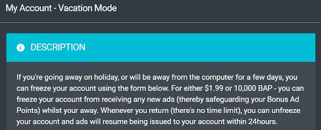 ptcshare vacation mode turn on or off