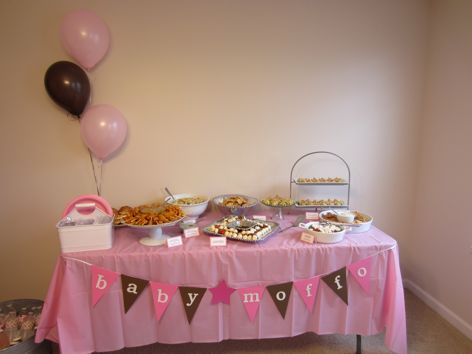 Life Love And Marathons Pink Brown Baby Shower