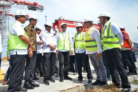 Persiapan Operasi, Menhub Tinjau Pembangunan TPK Belawan  Fase I dan II