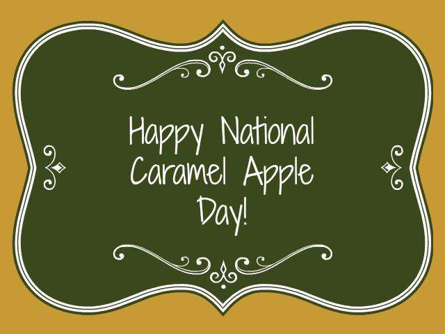 National Caramel Apple Day Wishes Images download